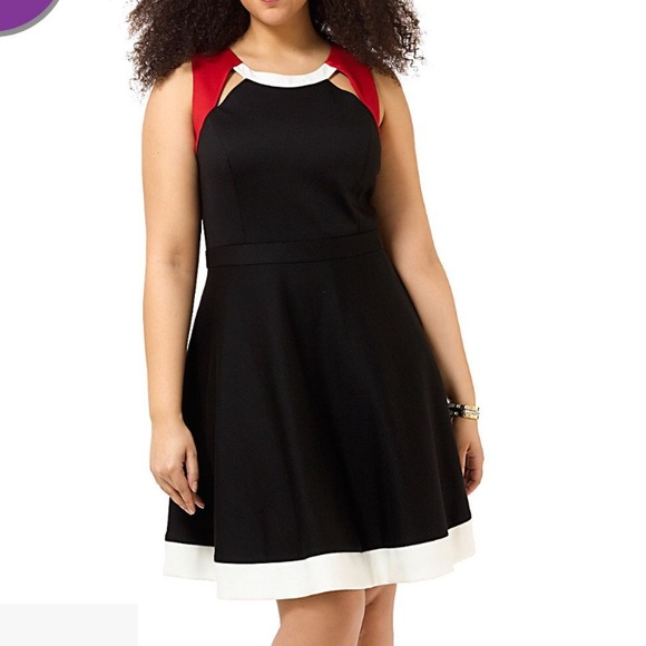 mbn Dresses | Ponte Knit Cut Out Dress 18 Plus Size | Poshmark
